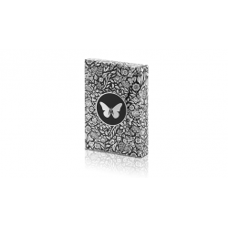 Limited Edition Butterfly Playing Cards Marked (Black and Silver) by Ondrej Psenicka wwww.magiedirecte.com