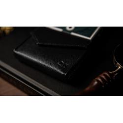 LUXURY LEATHER PLAYING CARD CARRIER (Noir) - TCC wwww.magiedirecte.com