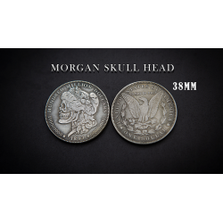 MORGAN SKULL HEAD COIN wwww.magiedirecte.com