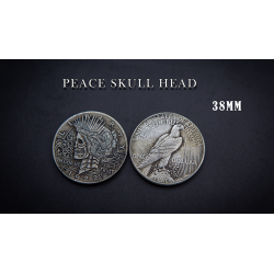 PEACE SKULL HEAD COIN wwww.magiedirecte.com