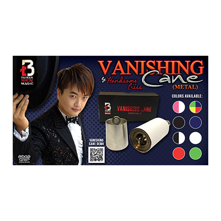 Vanishing Metal Cane (Black) by Handsome Criss and Taiwan Ben Magic - Trick wwww.magiedirecte.com