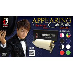 Appearing Cane (Metal / Black & White) by Handsome Criss and Taiwan Ben Magic - Trick wwww.magiedirecte.com