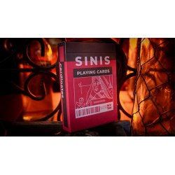 Sinis (Raspberry and Black) Playing Cards by Marc Ventosa wwww.magiedirecte.com