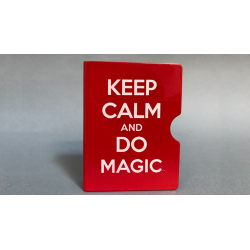 KEEP CALM AND DO MAGIC CARD GUARD (Rouge) wwww.magiedirecte.com