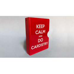 KEEP CALM AND DO CARDISTRY CARD GUARD (Rouge) wwww.magiedirecte.com