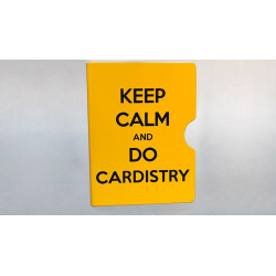 KEEP CALM AND DO CARDISTRY CARD GUARD (Jaune) wwww.magiedirecte.com