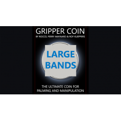Gripper Coin Bands (Large) by Rocco Silano - Trick wwww.magiedirecte.com