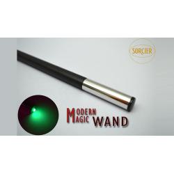Modern Light Wand GREEN by Sorcier Magic wwww.magiedirecte.com