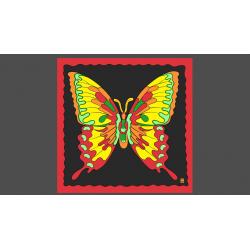 FOULARD RICE SYMPHONY (Papillon - 90 cm) wwww.magiedirecte.com