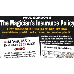 The Magician's Insurance Policy by Paul Gordon - Trick wwww.magiedirecte.com