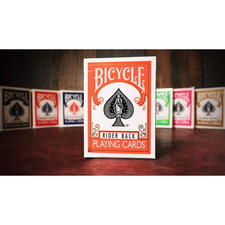 Bicycle Orange Playing Cards by USPCC wwww.magiedirecte.com