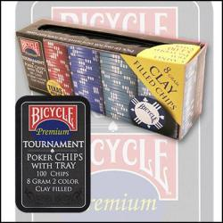 Bicycle Clay Poker Chip Set: 100 Count wwww.magiedirecte.com
