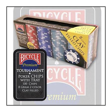 BICYCLE CLAY POKER CHIP (100 Jetons) wwww.magiedirecte.com