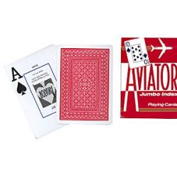 Aviator Jumbo Index Poker Size (Red) wwww.magiedirecte.com