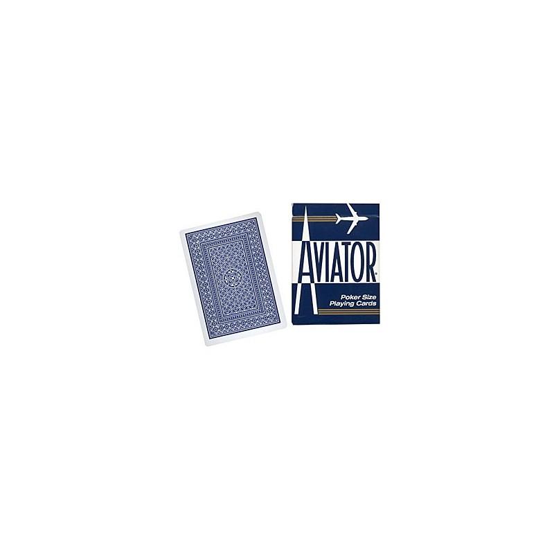 Cards Aviator Jumbo Index Poker Size (Blue) wwww.magiedirecte.com
