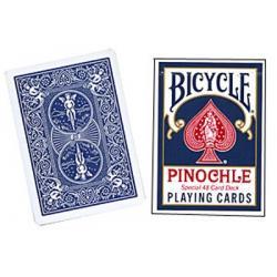 Cards Bicycle Pinochle Poker-size (Blue) wwww.magiedirecte.com