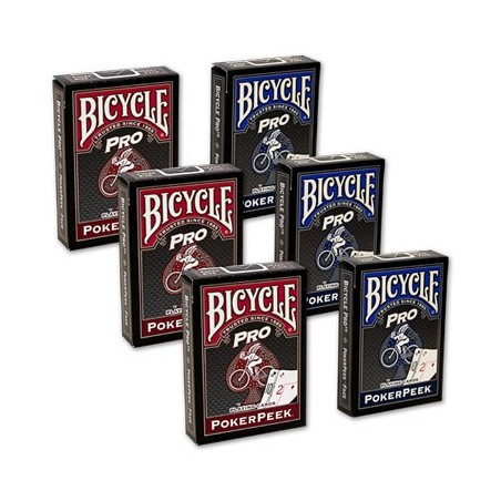 Cards Bicycle Pro Poker Peek - 6 JEUX (Mixte) USPCC wwww.magiedirecte.com