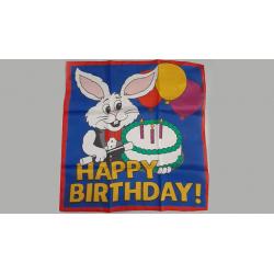 FOULARD HAPPY BIRTHDAY (90 cm) wwww.magiedirecte.com