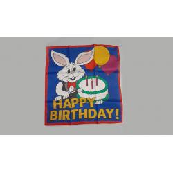 FOULARD HAPPY BIRTHDAY  (45 cm) wwww.magiedirecte.com