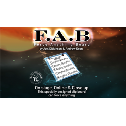 FAB BOARD A4/BLUE (Gimmicks and Online Instruction) by Joel Dickinson & Andrew Dean - Trick wwww.magiedirecte.com