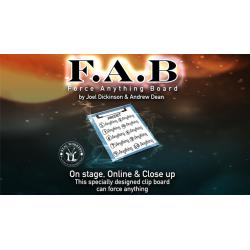 FAB BOARD A4/BLACK (Gimmicks and Online Instruction) by Joel Dickinson & Andrew Dean - Trick wwww.magiedirecte.com