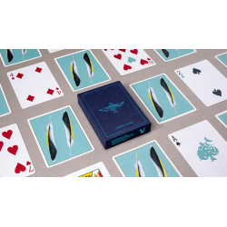FEATHER DECK: GOLDFINCH EDITION (Teal) - Joshua Jay wwww.magiedirecte.com