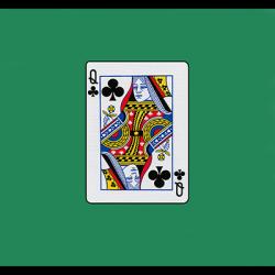 12 inch Card Silk - Queen Of Clubs by Vincenzo Di Fatta wwww.magiedirecte.com