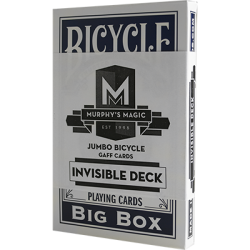 Jumbo Invisible Deck Bicycle (Blue) - Trick wwww.magiedirecte.com