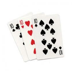 3 CARD MONTE (Blanc) - Royal Magic wwww.magiedirecte.com