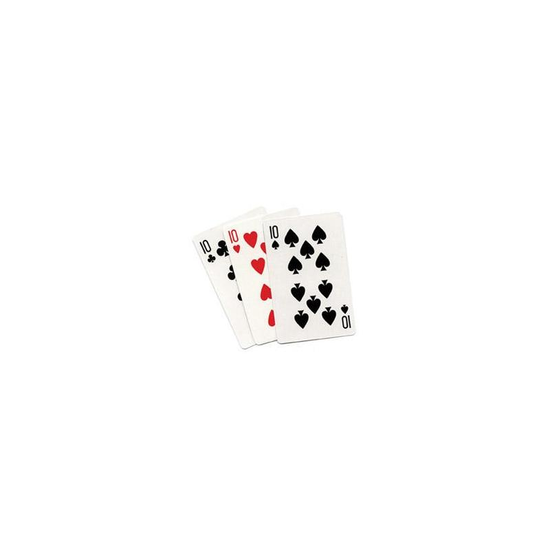 3 CARD MONTE (Blanc) - Royal Magic wwww.magiedirecte.com