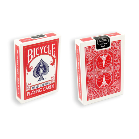 Bicycle Playing Cards 809 Mandolin Rouge by USPCC wwww.magiedirecte.com