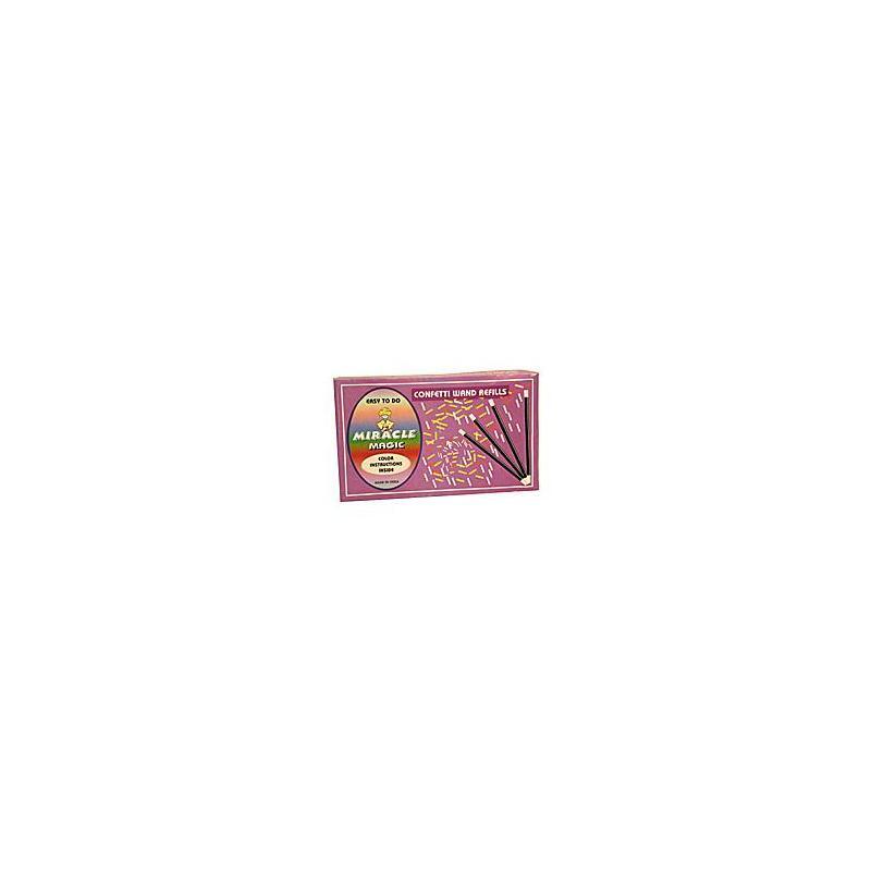 Recharges pour baguette à confettis - Uday wwww.magiedirecte.com