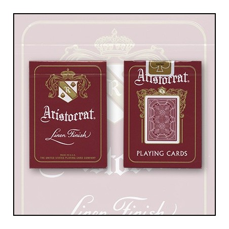 Bicycle Aristocrat 727 Bank Note Cards (Rouge) by USPCC wwww.magiedirecte.com