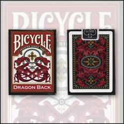 Bicycle Dragon Back Cards (Rouge) by USPCC wwww.magiedirecte.com