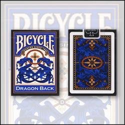 Bicycle Dragon Back Cards (Bleu) by USPCC wwww.magiedirecte.com