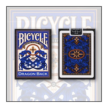 Bicycle Dragon Back Cards (Bleu) by USPCC wwww.magiedirecte.com