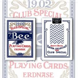 Erdnase 1902 Bee Playing Cards - Blue Smith No. 2 Back (Cambric Finish) - Limited Edition by Conjuring Arts wwww.magiedirecte.co