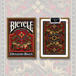 Bicycle Dragon Back Deck (Gold) by USPCC wwww.magiedirecte.com