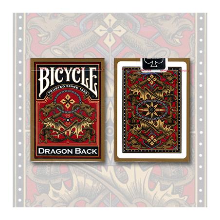 Bicycle Dragon Back Deck (Gold) by USPCC wwww.magiedirecte.com