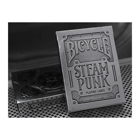 Bicycle Silver Steampunk Deck by USPCC wwww.magiedirecte.com
