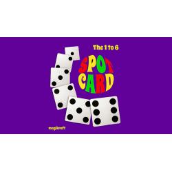 1 TO 6 SPOT CARD by Martin Lewis - Trick wwww.magiedirecte.com