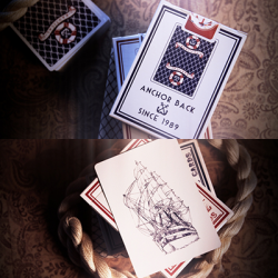 Nautical Playing Cards (Red) by House of Playing Cards wwww.magiedirecte.com