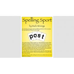 SPELLING SPORT STAGE - Mark Strivings wwww.magiedirecte.com