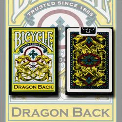 Bicycle Dragon Yellow by Gamblers Warehouse wwww.magiedirecte.com