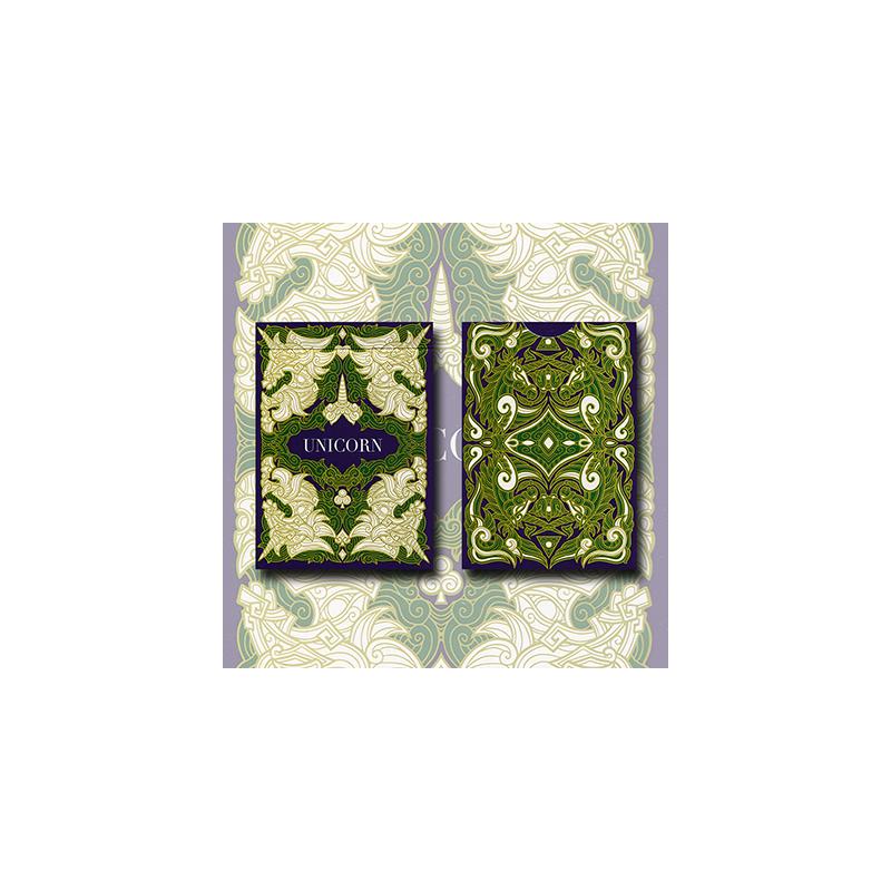 Unicorn Playing cards (Emerald)by Aloy Design Studio USPCC wwww.magiedirecte.com