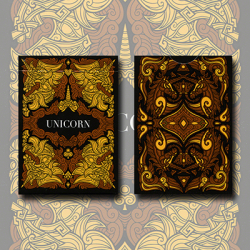 Unicorn Playing cards (Copper) by Aloy Design Studio USPCC wwww.magiedirecte.com