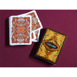 Unicorn Playing cards (Copper) by Aloy Design Studio USPCC wwww.magiedirecte.com