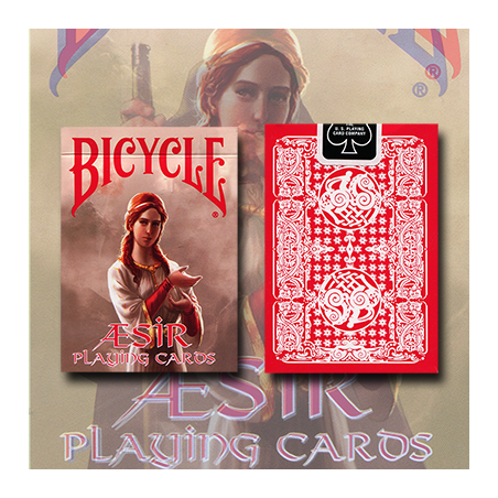 Bicycle AEsir Viking Gods Deck (Rouge) by US Playing Card Co. wwww.magiedirecte.com