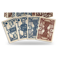 Bicycle Civil War Deck (Rouge) by US Playing Card Co wwww.magiedirecte.com