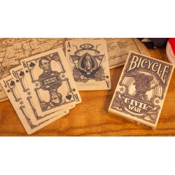 Bicycle Civil War Deck (Bleu) by US Playing Card Co - Trick wwww.magiedirecte.com